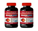 Supplements for Eye Health - Maximum Vision Support - Promotes Vision Health - Grape Seed Supplement - 2 Bottle 120 Capsules