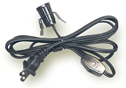 Stupendous Lamp Cord W Snap In Socket And Switch 6 Ft Black Arts And Crafts Wiring Digital Resources Inamapmognl
