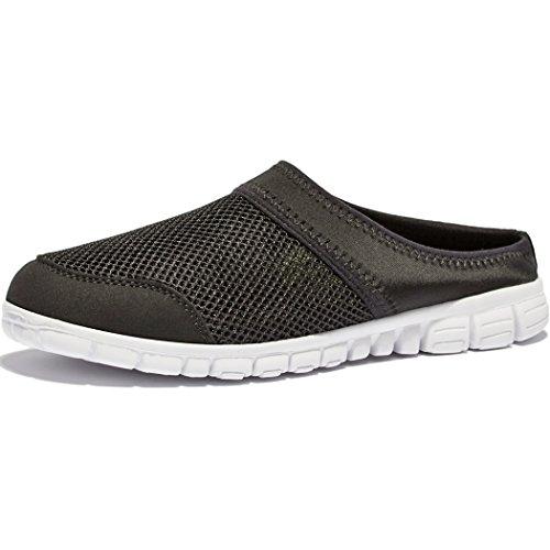 KENSBUY Men's Breathable Summer Mesh Sneakers Leisure Closed Toe Slippers EU47 Grey by KENSBUY