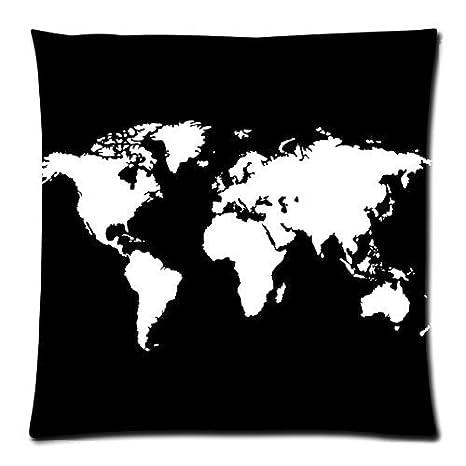 Amazon.com: Home Decor personalizada Mapa del Mundo Blanco ...