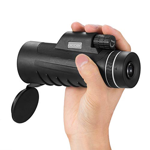- Occer 10X42 High Power Monocular Telescope HD Dual Focus Scope, Waterproof Compact Monocular with BAK4 Multi-Coated Zoom Lens, Low Night Vision for Hunting Bird Watching Camping Outdoor Sporting