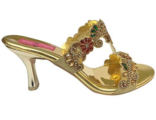 Step n Style, Sandali donna multicolore Gold Multi