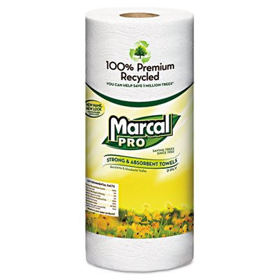 MAC630 100% Premium Recycled Perforated Towels, 2-Ply, 11x9, White, 70/Roll