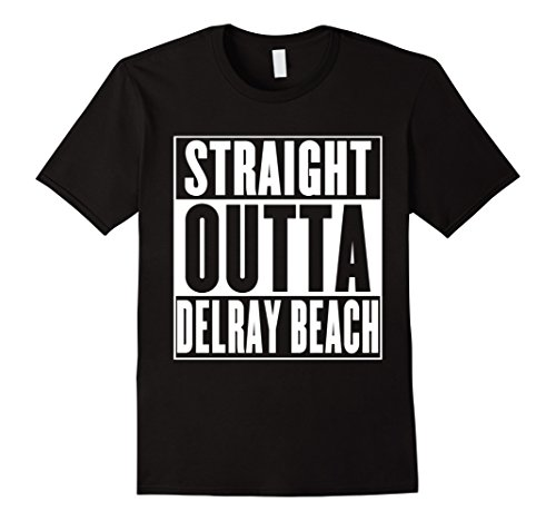 Mens Straight Outta Delray Beach T-Shirt XL - Delray Beach Shops