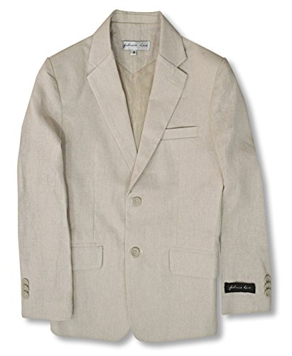 (Boys' Cotton/Linen Blend Blazer Jacket #JL38 (10,)