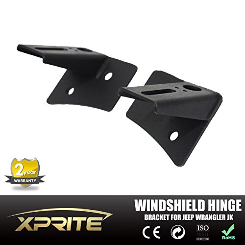 Xprite JK Jeep Windshield Lower Corner Brackets For LED Lights