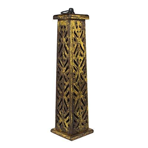 storeindya Incense Holder Tower Burner Stand Holder Cone Wooden Ash Catcher (Design 8)
