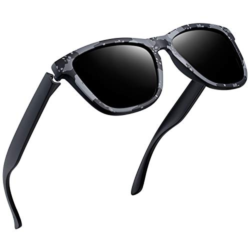 Joopin Polarized Sunglasses for Men Women with Changable Temple Arms, Square Mens Womens Sun Glasses