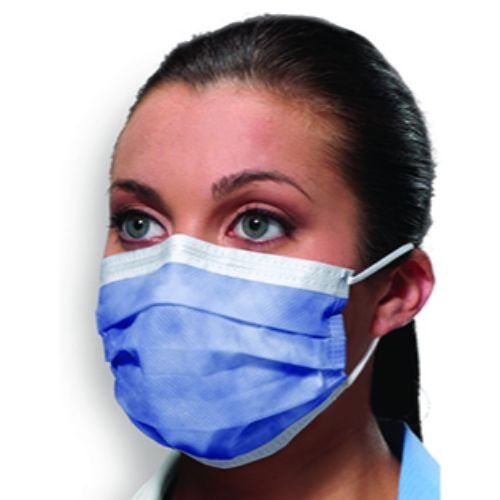 Crosstex GCILV Latex-Free Isofluid Earloop Mask, Lavender (Pack of 50) by Crosstex (Image #1)