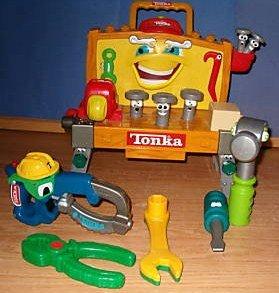Amazon Com Tonka Talking Tool Bench And Tools With Handle