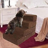 Yunhigh-es Paso Perro para Perros pequeños, 3 Pasos de la Escalera Grande Desmontable Lavable Escalera Cama Paso Subida de Gato y los Perros Viejos de Cama Sofá: Amazon.es: Productos para mascotas