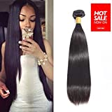 Brazilian Straight Remy Human Hair 1 Bundle 16 inches Unprocessed Brazilian Virgin Hair Natural Color(16')