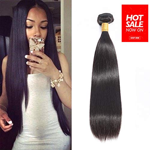 Brazilian Virgin Straight Human Hair 1 Bundle 22 inches Unprocessed Brazilian Remy Hair Natural Color(22