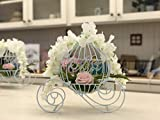 Decorative White Metal Cinderella Carriage for