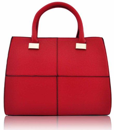 KCMODE Ladies Designer Celebrity Rich Vintage Squares Womens Tote Bag Larger Handbag