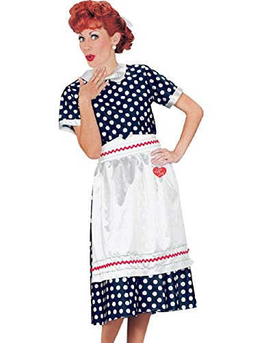 Women's I Love Lucy Classic Red Polka Dot 50s Dress Costume Plus Size 18-22