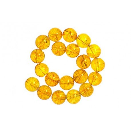 2 x Perle Citrine Jaune Naturelle 10mm