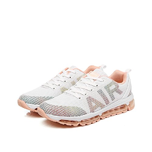 Absorbing Athletic for Monrinda Shoes White WoMen Multi Jogging Sneakers Outdoor Cushion Girls Sport Ladies Mesh Air for Lightweight Sport Breathable Trainers Fitness Shock qrp6qzx