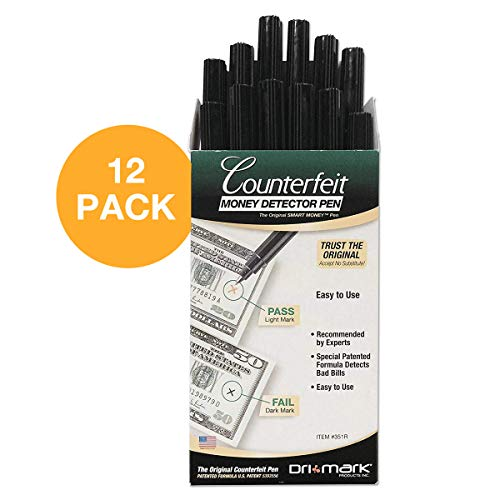 - Dri-Mark 351R1 Smart Money Counterfeit Bill Detector Pen for Use w/U.S. Currency (Pack of 12)