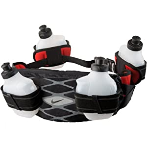 Nike Storm 4-Bottle Hydration Waistpack - Black/Cool Grey/Lt Crimson