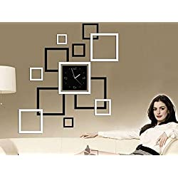 AMA(TM)Family Wall Decor Collage Photo Frame Set DIY Clock Wall Sticker for Living Room&bedroom