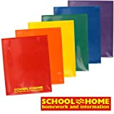 StoreSMART - Plastic School/Home 2-Pocket Folders - Primary Colors 48 Pack - 8 Each of Six Bright Colors (SH900PCP48ENG)