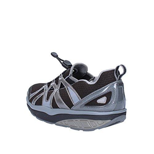 37 Textile EU Gris MBT Sneakers Noir Femme Basket Mode qwHcPFT