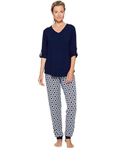 Pastunette Deluxe Loungewear Haut de Pyjama - Bleu 4051-310-2 (554)