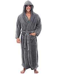 daaae166bd Mens Fleece Solid Colored Robe