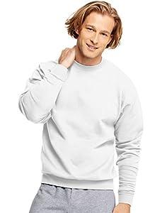 Hanes ComfortBlend EcoSmart Crew Sweatshirt, White, XXXX-Large