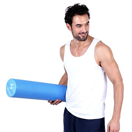 spinway Yoga Foam Roller Speckled Foam Rollers for Muscles Extra Firm High Density for Physical Therapy Exercise Deep Tissue Muscle Massage (Blue) by spinway (Image #6)