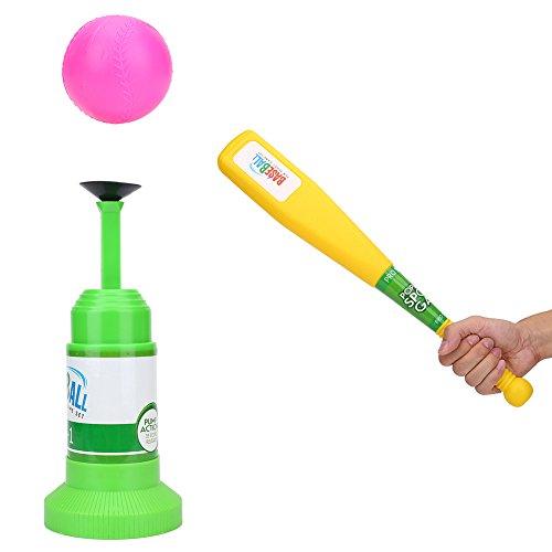 Kids Baseball Training Toy,Sports Baseball Games T-Ball Set With Semi-Automatic Launcher,Baseball Bat and Baseballs by Vbestlife