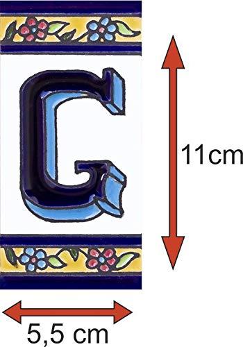 Letra B Numeros y letras para casa 5,5 x 11 cm pintado a mano