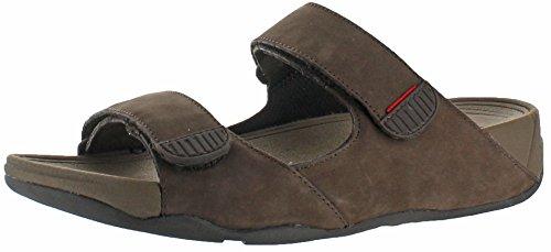 FitFlop Mens Gogh Slide (Adjustable) Sandal,Chocolate,10 M US