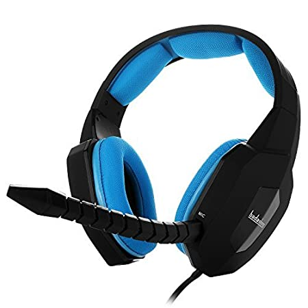 Gaming Headset BliGli Badasheng Wired Stereo Noise Cancelling Gaming Headphones for PS4, Xbox One, PC, Laptop with Detachable Microphone (Blue)