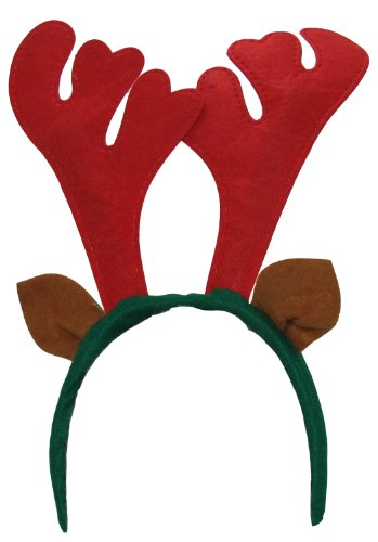 SANTA'S SECRETS Reindeer Antlers Headband (One Size, 12 Pieces)