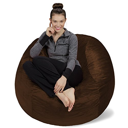 Sofa Sack - Bean Bags Memory Foam Bean Bag Chair, 4-Feet, - Brown Bean Bag