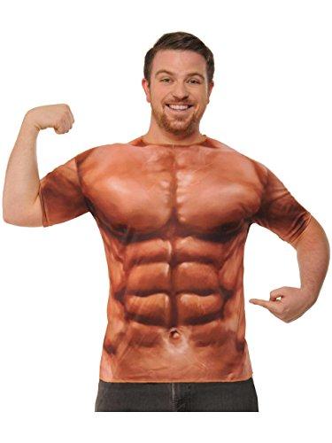 Price comparison product image Forum Novelties Muscle T-Shirt, Multi-Color