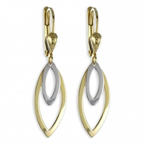 ASS 333 or Boucles d'oreilles Brisur bicolore 36 mm, BICOLORE