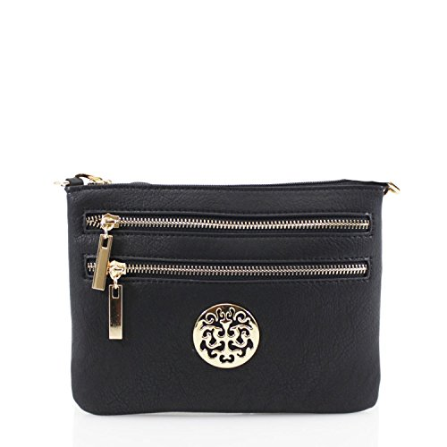 LeahWard LeahWard Cross Body Taschen für Frauen Schöne Damen Celeb Style Schultertasche Handtaschen 835 (WEISS) SCHWARZ
