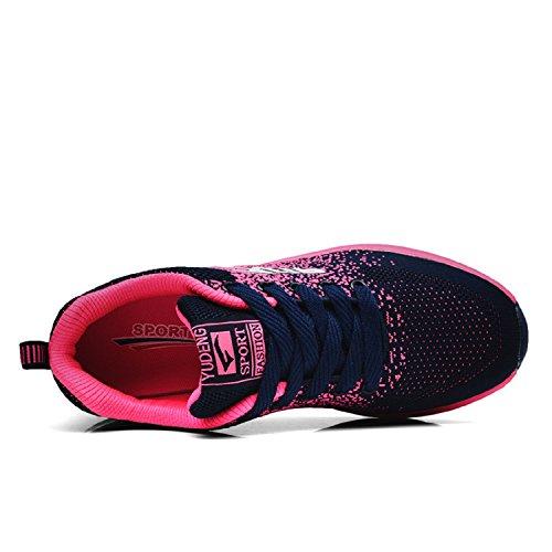 Turnschuhe Damen Ultra Herren Dämpfung Rutschfeste Luftpolster Leichte LILY999 Blau Sportschuhe mit Sneakers Laufschuhe Freizeitschuhe Rosa 8dqxwg4B