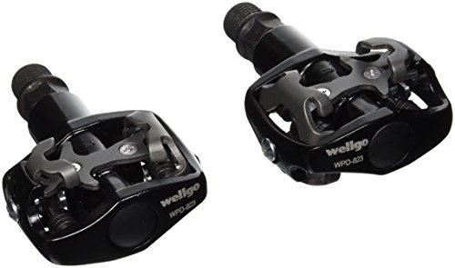 Wellgo WPD-823 MTB CR-MO Clipless Pedal, 9/16-Inch (Best Mtb Clipless Pedals)