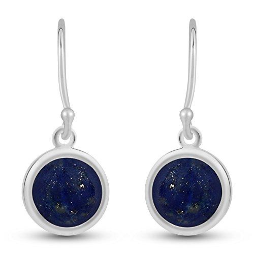 Lapis Lazuli Dangle Earrings - .925 Sterling Silver Jewelry - Stellar ()