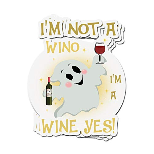 ViralTee 3 PCs Stickers I'm Not A Wino I'm Wine Yes! Halloween 4 × 3 Inch Die-Cut Decals]()