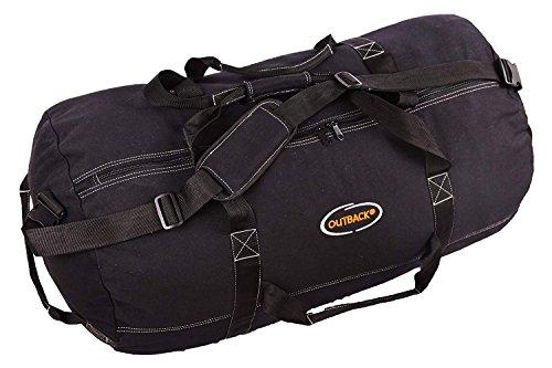 Ledmark Super Tough Heavyweight Cotton Canvas Duffel Bag, Black, Colossal 72