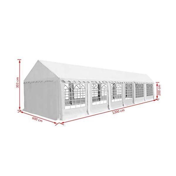 FZYHFA Gazebo da Giardino in PVC 6x12 m Bianco Gazebo Pieghevole Gazebo eurolandia Gazebo Impermeabile 6 spesavip