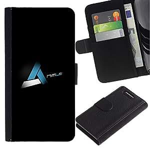 LECELL--Cuero de la tarjeta la carpeta del tirón Smartphone Slots Protección Holder For Sony Xperia Z3 Compact -- Nimus --