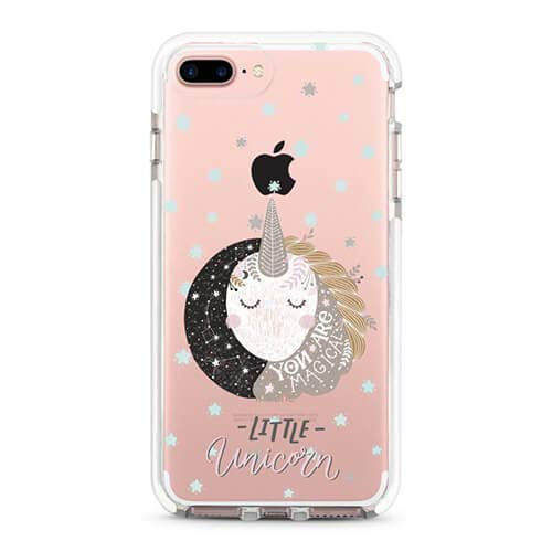 Cute Protective Girl Case for iPhone 6 6s 7 Plus Clear with Glass Screen Protector by LFXTECH