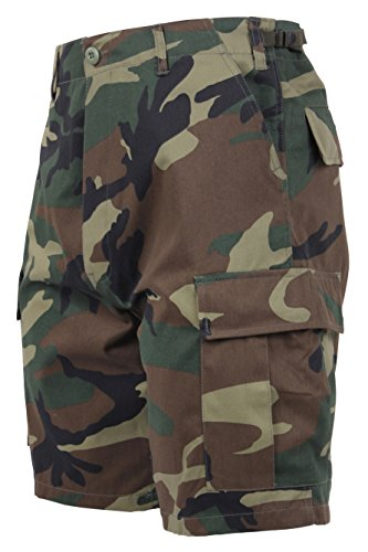 Rothco Bdu Short P/C - Woodland Camo, Medium