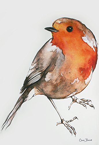 Tea Towel in a Robin Design
